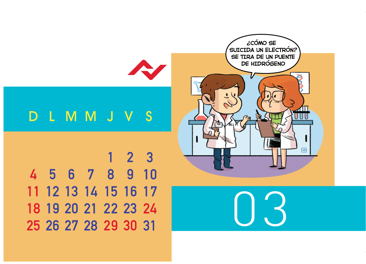Calendario Jenck - Marzo 2018