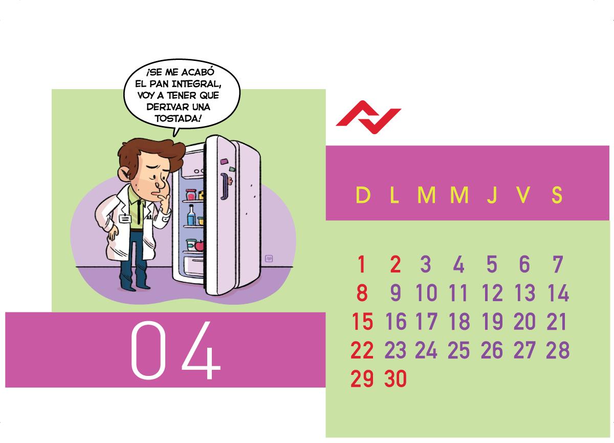 Calendario Jenck - Abril 2018