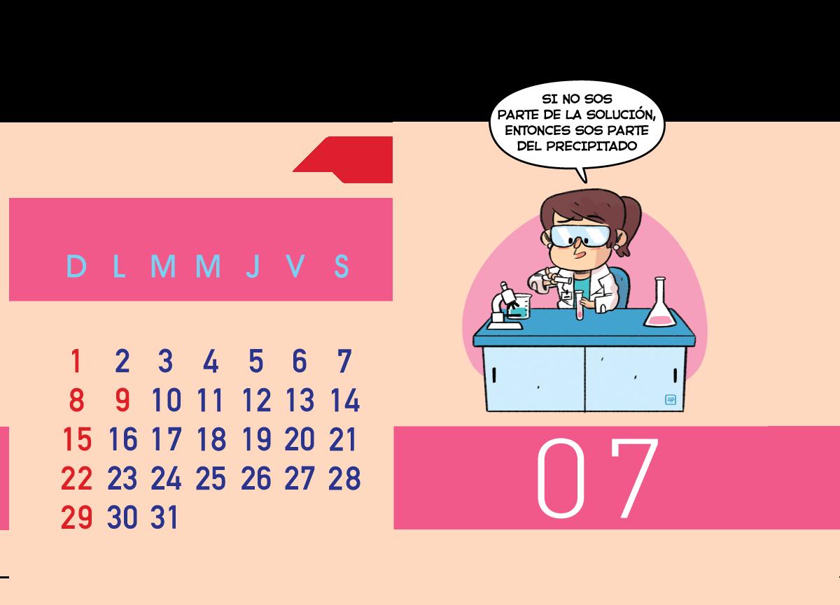 Calendario Jenck - Julio 2018