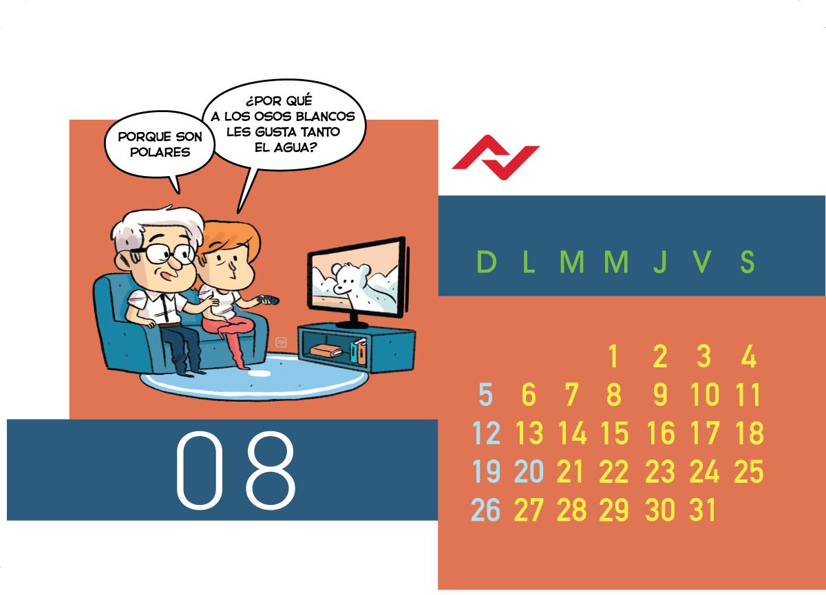 Calendario Jenck - Agosto 2018