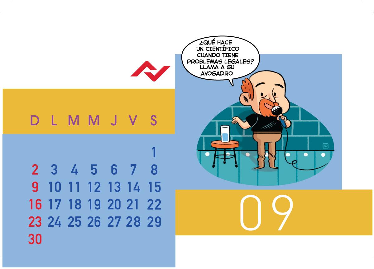 Calendario Jenck - Septiembre 2018