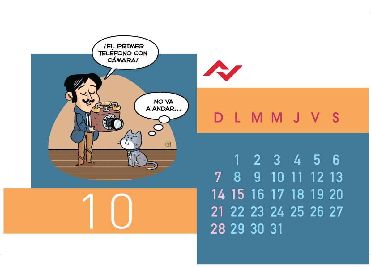 Calendario Jenck - Octubre 2018