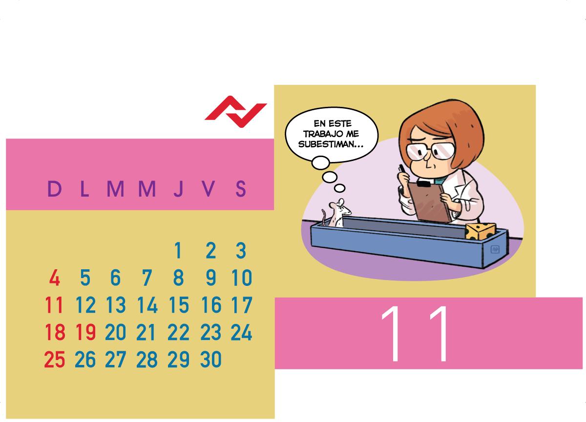 Calendario Jenck - Noviembre 2018